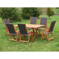 Zestaw ogrodowy (6 krzeseł Nottingham + stół Bradford)