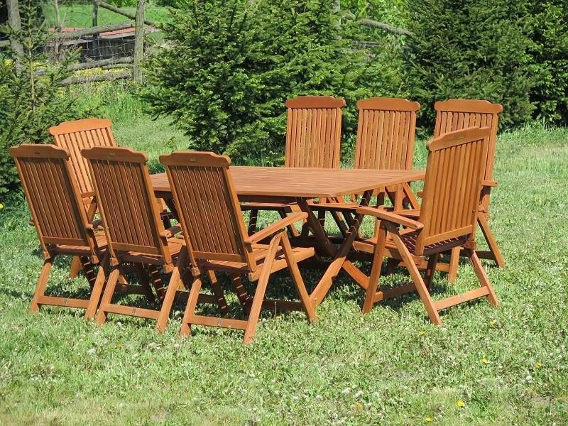 Zestaw ogrodowy Bradford 100x200 (8 krzeseł Baltic)