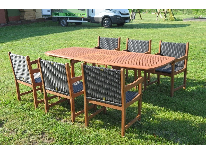 Stół Prowansja + 6 foteli Nottingham