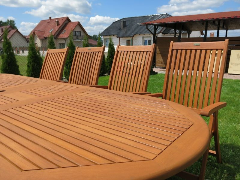 Meble Ogrodowe Rattanowe Zestaw Stoł 8 Krzeseł : Zestaw ogrodowy (8 krzeseł Cardiff + stół Stockholm + 8 poduch)