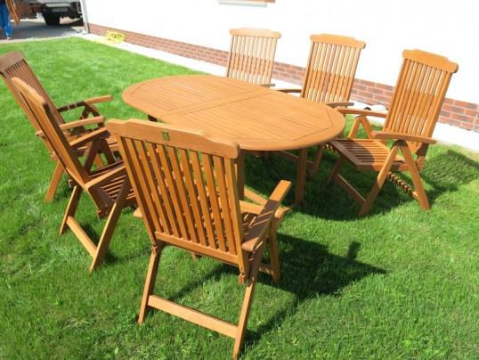 Zestaw ogrodowy (6 krzeseł Baltic + stół Toledo + 6 poduch)