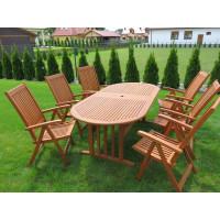 Zestaw ogrodowy (6 krzeseł Cardiff + stół Stockholm)