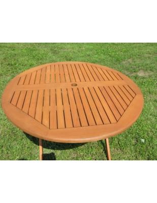 Zestaw ogrodowy (4 krzesła Sydney + stół okrągły Bradford + 4 poduchy)