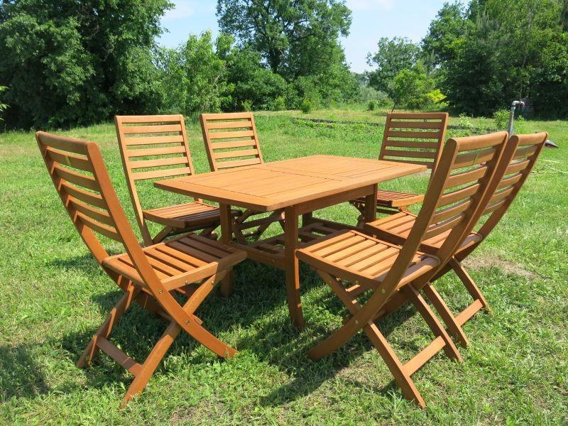Zestaw ogrodowy (6 krzeseł Tenerife + stół Lancaster + 6 poduch)