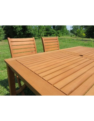Meble ogrodowe (6 krzeseł Carolina + stół Dover + 6 poduch)