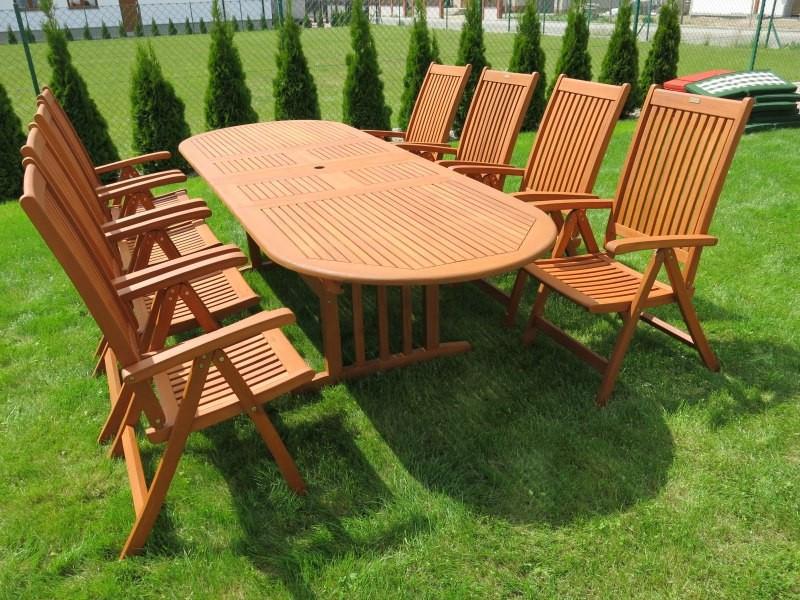 Meble Ogrodowe Drewniane Składane : Krzesło ogrodowe składane Cardiff (5pozycyjne)  Ratanland