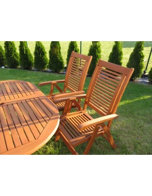Krzesło ogrodowe składane Bosbury (5-pozycyjne)