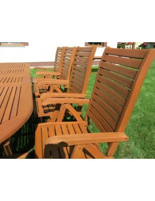 Krzesło ogrodowe składane Carolina (5-pozycyjne)