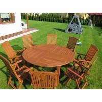 meble ogrodowe stół krzesła (Stół Cocos 180cm + zestaw 8 krzeseł 5-pozycyjnych do wyboru)