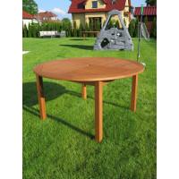 stół do ogrodu drewniany okrągły 140cm