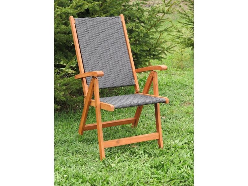 Krzesło Ogrodowe Składane Nottingham 5 Pozycyjne Ratanland