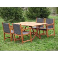 komplet ogrodowy drewniany (4 fotele Nottingham + stół Bradford)