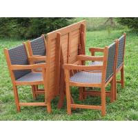 Zestaw ogrodowy (4 fotele Nottingham + stół Bradford)