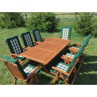 Zestaw ogrodowy Bradford 100x200 (8 krzeseł Baltic + zielone poduchy)