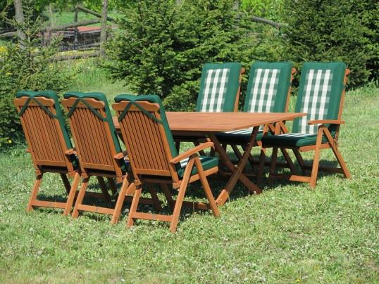 Zestaw ogrodowy Bradford 100x200 (6 krzeseł Baltic + poduchy PREMIUM)
