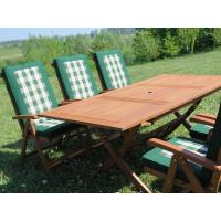 meble ogrodowe Bradford 100x200 (6 krzeseł Baltic + poduchy PREMIUM