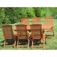 meble ogrodowe stół krzesła Bradford 100x200 (6 krzeseł Baltic)