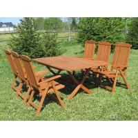 meble do ogrodu drewniane Bradford 100x200 (6 krzeseł Baltic)