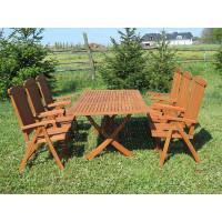 komplet ogrodowy drewniany Bradford 100x200 (6 krzeseł Baltic)