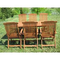zestaw ogrodowy drewniany Bradford 100x200 (6 krzeseł Baltic)