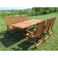 meble ogrodowe Bradford 100x200 (6 krzeseł Baltic)
