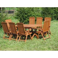 zestaw ogrodowy drewniany Bradford 100x200 (8 krzeseł Baltic)