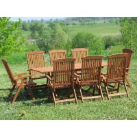 komplet ogrodowy drewniany 100x200 (8 krzeseł Baltic)