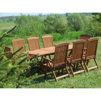 meble ogrodowe drewniane Bradford 100x200 (8 krzeseł Baltic)