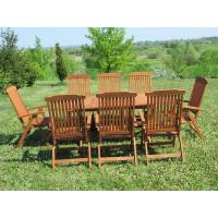 meble do ogrodu drewniane Bradford 100x200 (8 krzeseł Baltic)