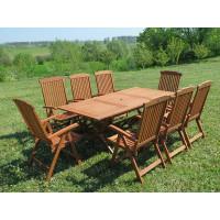 meble ogrodowe stół krzesła Bradford 100x200 (8 krzeseł Baltic)