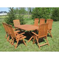 meble ogrodowe Bradford 100x200 (8 krzeseł Baltic)