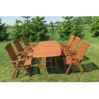 meble ogrodowe stół krzesła (stół Prowansja 180-230x100x75cm + 6 krzeseł Baltic)