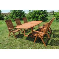 meble ogrodowe (stół Prowansja 180-230x100x75cm + 6 krzeseł Baltic)