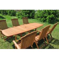 Zestaw ogrodowy (stół Prowansja 180-230x100x75cm + 6 krzeseł Baltic)