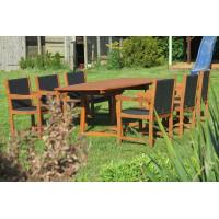 komplet ogrodowy drewniany (Stół Prowansja + 6 foteli Nottingham)