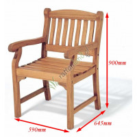 fotel ogrodowy drewniany Edinburgh wymiary