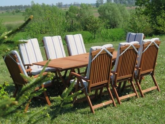 Poduszki Na Krzesła Składane 5 Pozycyjne W Paski Premium