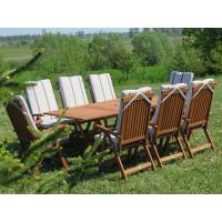 Poduszki na krzesła składane 5-pozycyjne w paski