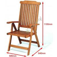 krzesło ogrodowe 5-pozycyjne Cardiff wymiary