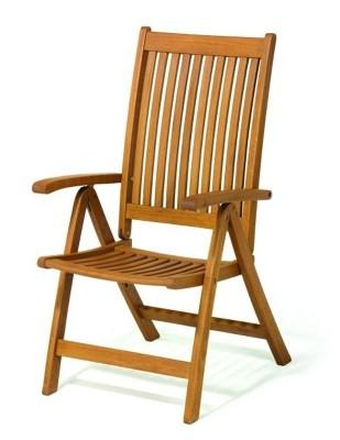 Krzesło ogrodowe składane Cardiff (5-pozycyjne)
