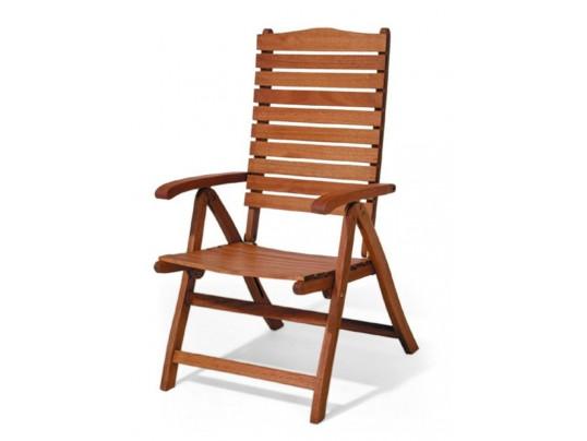 Krzesło ogrodowe składane Bengali (5-pozycyjne)