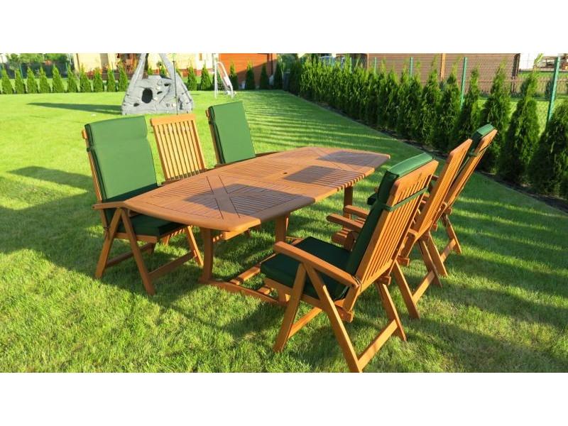 Zestaw ogrodowy (6 krzeseł Cardiff, Baltic lub Wellington + stół Birmingham)