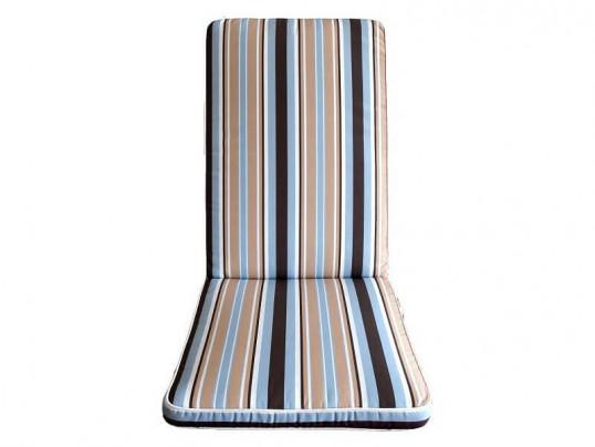 Poduszki na krzesła składane 5-pozycyjne w paski PREMIUM