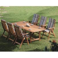 komplet mebli ogrodowych z krzesłami Calgary