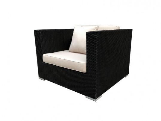 Fotel ogrodowy z technorattanu Madryt do zestawu modułowego