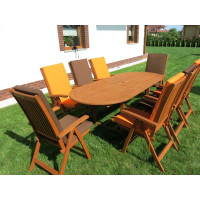 meble ogrodowe stół krzesła (8 krzesła Cardiff+ stół Toledo + 8 poduch)