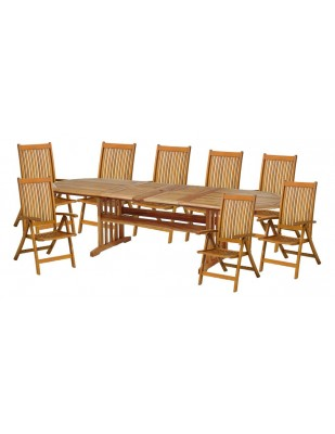 Zestaw ogrodowy (8 krzeseł Baltic, Cardiff lub Wellington + stół Stockholm)