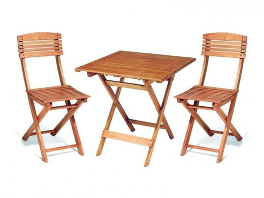 Zestaw mebli ogrodowych Cayenne (70 x 70) z 2 krzesłami składanymi Cayenne