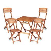Zestaw ogrodowy Cayenne (4 krzesła + stół) wymiary