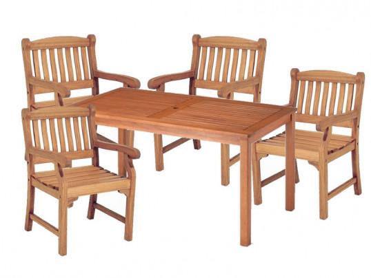Zestaw ogrodowy (4 fotele Edinburgh + stół Dover) wizualizacja